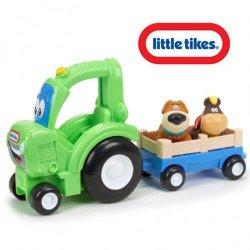 Little Tikes- Pojazd z Uchwytem Frankly Farmer Zielony Dźwięk
