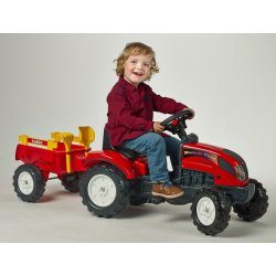 FALK Traktor RANCH z przyczepą czerwony + zestaw do piasku 2-5 lat