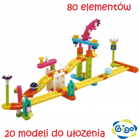 GIGO Klocki Konstrukcyjne Mini ZOO Mały Inżynier 80 elem.