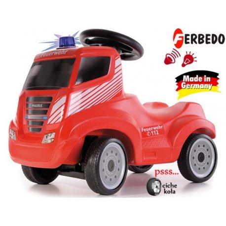 FERBEDO Jeździk Ciężarówka IVECO Magirus czerwony