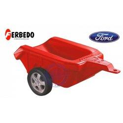 FERBEDO Przyczepa Ford czerwona do traktora jeździka