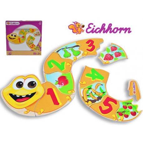 Eichhorn Wąż Puzzle Edukacyjne Układanka 12 el.