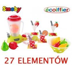 Smoby Ecoiffier Zestaw do koktajli Blender Uzupełnienie Kuchni 27 El.