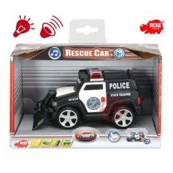 Dickie Samochód ratunkowy POLICJA światło dźwięk radiowóz pilicyjny Napęd ruchome elementy
