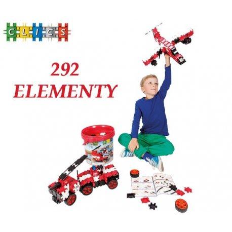 CLICS Klocki 292 elementy Straż Pożarna Hero Brigade Drum