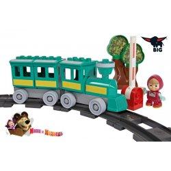 Big Klocki Masza i Niedźwiedź Zabawny pociąg + figurka Maszy