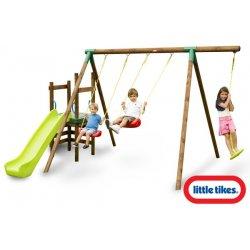 Little Tikes Duży Drewniany Plac Zabaw 3 huśtawki Hamburg