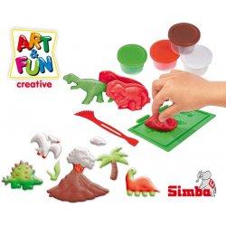 SIMBA Art&Fun Masa plastyczna - Dinozaury