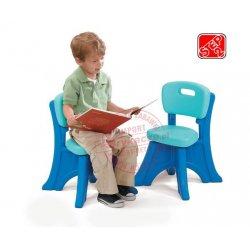 STEP2 Krzesełko z oparciem niebieskie