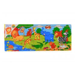 Układanka zwierzęta afryka - drewno puzzle