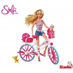 Simba Lalka Steffi Love na rowerze z dzieckiem