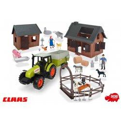 Dickie Duży zestaw farmera + Traktor Claas z przyczepą