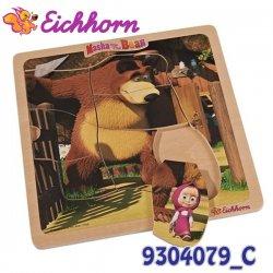 Eichhorn Drewniane Puzzle Układanki Masza i Niedźwiedź Postać Maszy Niedźwiedzia