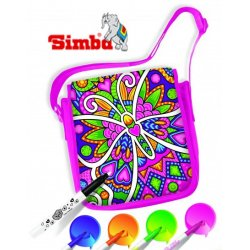 Simba Torba do kolorowania, malowania flamastrami Listonoszka Kameleon, Color me Mine+flamastry