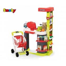 SMOBY Supermarket City Shop Kasa Wózek + akcesoria