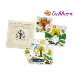 Eichhorn - Puzzle drewniane 4 Pory roku