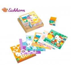 Eichhorn Klocki z obrazkami Hello Kitty układanka drewno