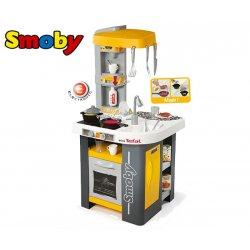 SMOBY Kuchnia Mini Tefal Studio Żółta Dźwięk 27 Akcesoriów