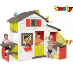 SMOBY Domek Ogrodowy Friends z dzwonkiem i kuchnią