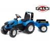 FALK Traktor Landini na pedały z przyczepą Niebieski