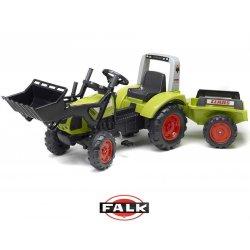 Traktor na pedały Claas Arion 430 z łyżką i przyczepką 1040AM Zielony