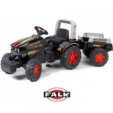 Falk Ogromny Traktor KING 900GM z przyczepą