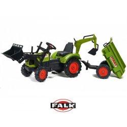 FALK Duży Traktor na pedały obrotowy fotel Koparka Przyczepka Łyżka 3 - 7 lat
