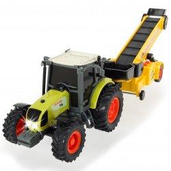 Dickie Traktor Farm Worker z Podajnikiem Ruchome Elementy światło dźwięk