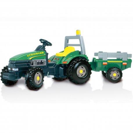 Smoby Traktor GTM Stronger z przyczepa