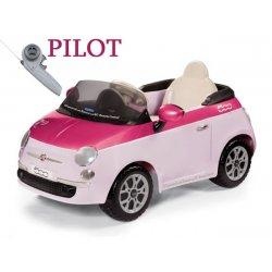 Peg Perego samochód na akumualtor 6 V Fiat500 RÓŻOWY