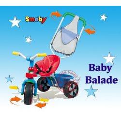 Smoby Rowerek trójkołowy Baby Balade Sterowana rączka