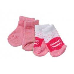 Baby Born Różowe Różowo-Białe Skarpetki Dla Lalki 43 cm