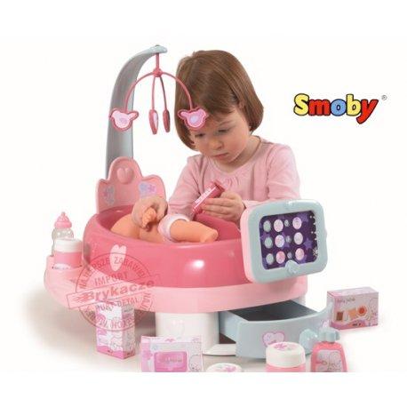 Smoby Baby Nurse Elektroniczny Kącik Opiekunki z akcesoriami + Lalka