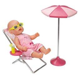 Baby Born Plażowy Zestaw dla lalki Leżak Parasol