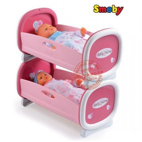 Smoby Baby Nurse kołyska dla bliźniąt Łóżeczko piętrowe dla lalki