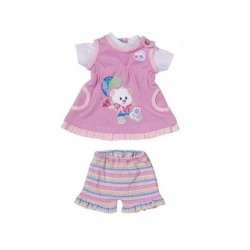 My Little Baby Born Modny komplecik sukienka + spodenki Fioletowe