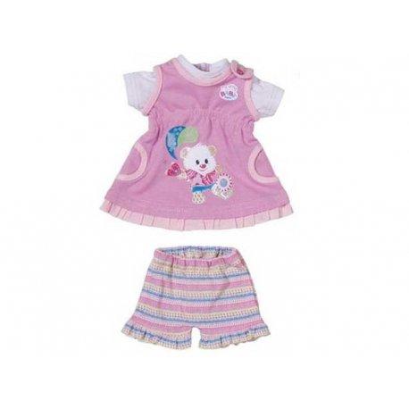 Ubranko Modny komplecik sukienka + spodenki My Little Baby Born Fioletowe