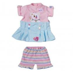 Ubranko Modny komplecik sukienka + spodenki My Little Baby Born Niebieskie