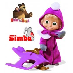 SIMBA Lalka Masza Na Skuterze Śnieżnym