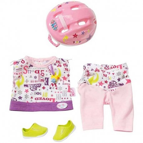 Zapf Creation Ubranko do jazdy na rowerze + kask + buciki dla lalki Baby Born 43 cm