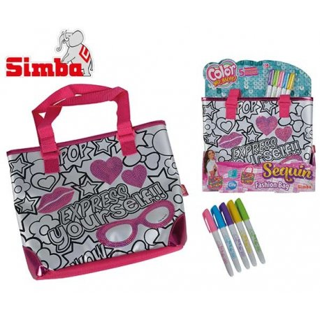 Simba Color Me Mine Modna torba do kolorowania + flamastry GRATIS Reklama TV HIT