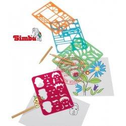 Simba Art&Fun Zestaw Szablonów + Kredki