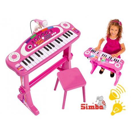Simba Keyboard z mikrofonem zestaw dla dziewczynki