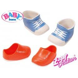 BABY BORN Zestaw bucików niebieski + czerwony