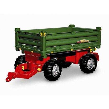 Rolly Toys Przyczepa Rolly Multi dwuosiowa zielona