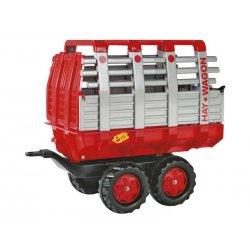 Rolly Toys rollyTrailer Przyczepa Hay Wagon czerwona dwuosiowa