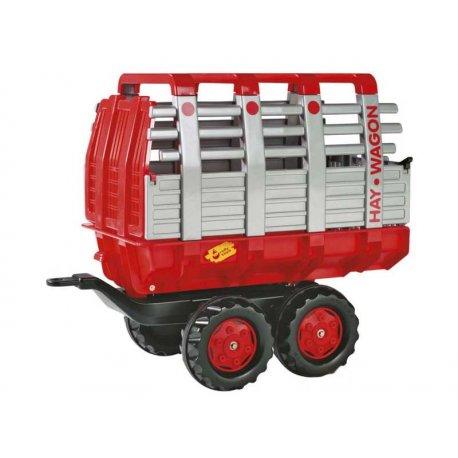 Rolly Toys Przyczepa Hay Wagon czerwona dwuosiowa