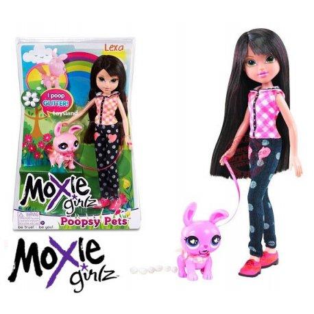 Lalka Moxie Girlz Lexa ze zwierzakiem + jajka perełki Poopsy Pets