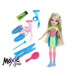 Moxie Girlz Lalka Avery z magicznymi włosami HIT USA magic hair color studio + farbki brokat