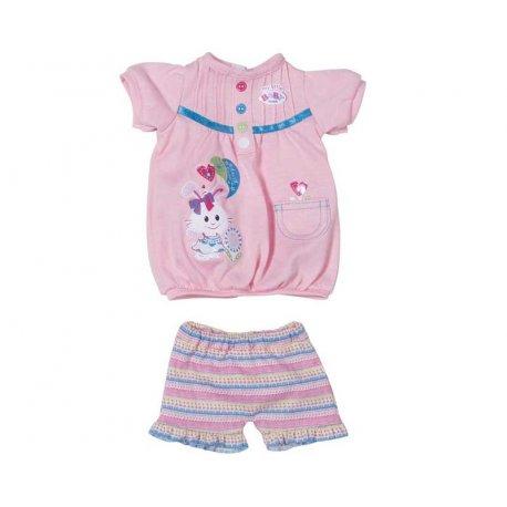 Ubranko Modny komplecik sukienka + spodenki My Little Baby Born Różowe